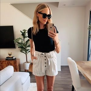 Abercrombie striped tie waisted shorts
